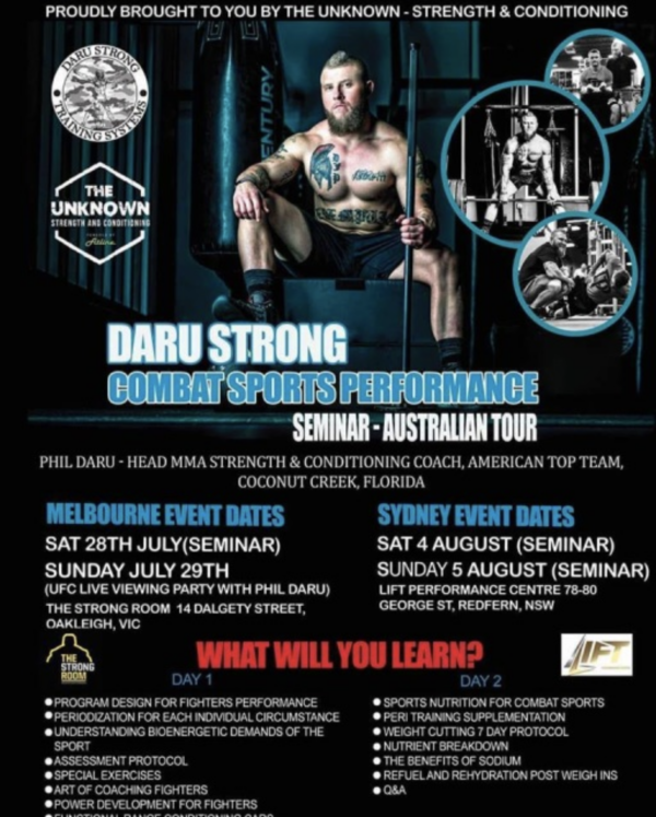 Fight Science Performance Seminar Presentation, Melbourne Australia 1